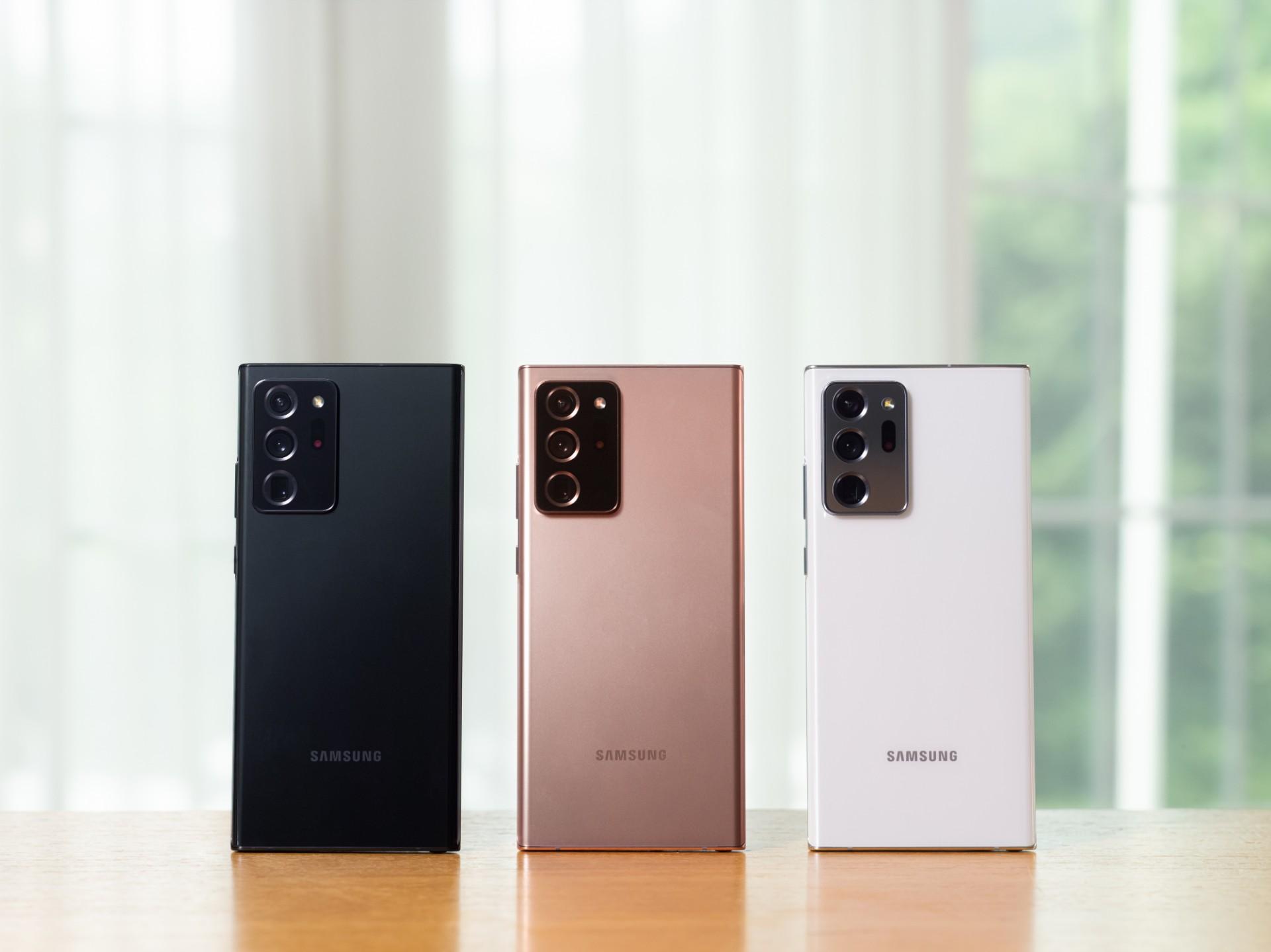 Samsung'dan tasarım ve renkleriyle kendine hayran bırakan yepyeni Galaxy Note20 Serisi